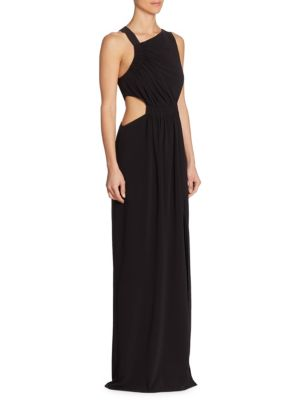 Asymmetrical Neck Gown