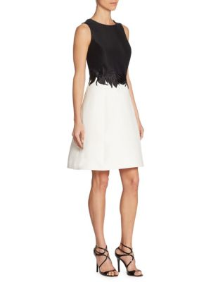 Buy Halston Heritage Roundneck Colorblocked Dress online with Australia wide shipping