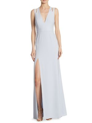 V-Neck Cutout Gown