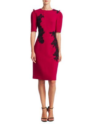 Elbow-Length Puffed Sleeve Dress