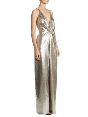Halter Neck Floor-Length Gown