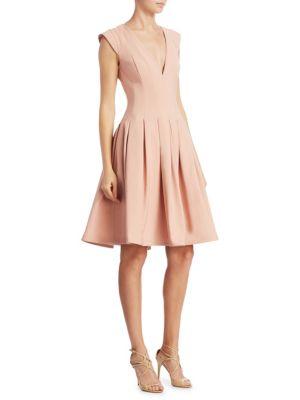 Cap Sleeves A-Line Dress