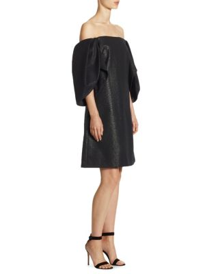 Metallic Knee-Length Dress