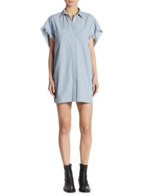 Oversized Chambray Cotton Dress
