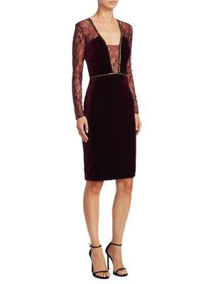 Velvet Beaded Cocktail Dress
