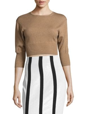 Crewneck Cropped Top by Diane von Furstenberg