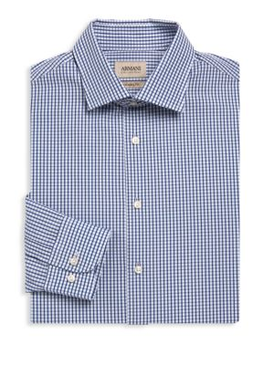 Modern-Fit Plaid Dress Shirt