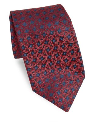 Abstract Floral Medallion Tie