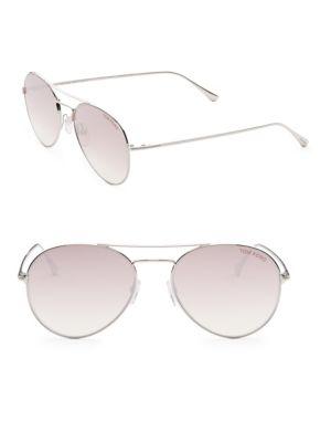 Ace 55MM Mirrored Aviator Sunglasses