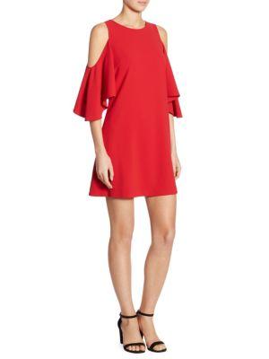 Coley Cold Shoulder A-Line Dress