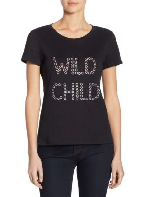 Front Graphic Cotton Shirt by Alice + Olivia
