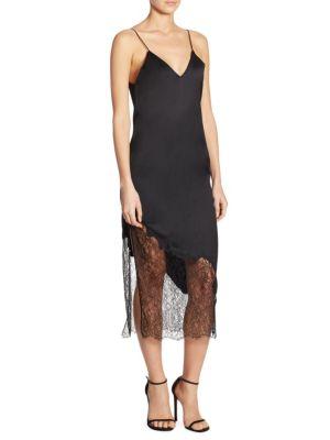 Evalee Side Slit Midi Slip Dress