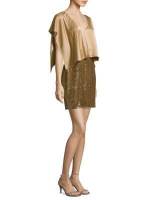 Popover Sequined Skirt Dress
