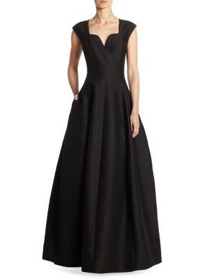 Geo Neckline Ball Gown