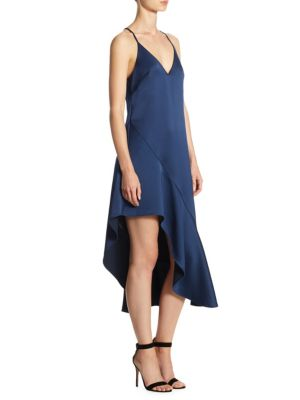 Asymmetric Flounce High-Low Dress