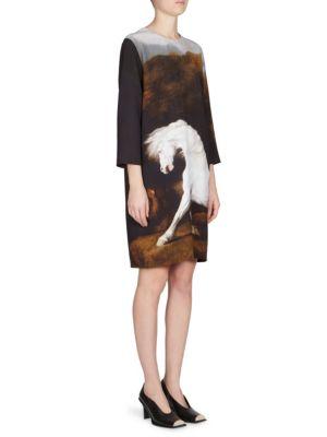 Horse-Print Shift Dress