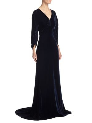 Velvet Ruched Gown