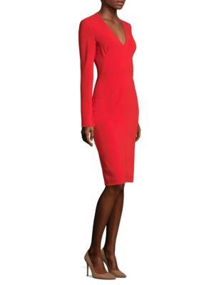 Sambora V-Neck Sheath Dress