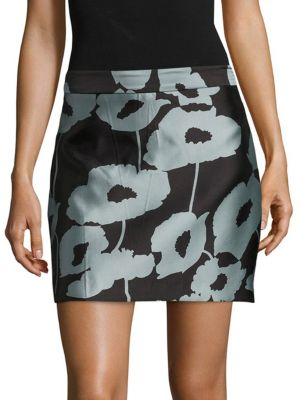 Graphic Modern Mini Skirt