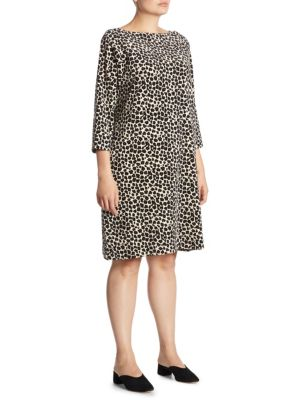 Velour Leopard Dress