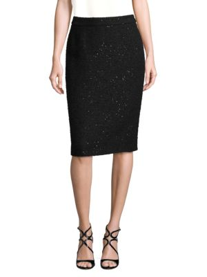 Ravas Sequin Wool-Blend Skirt