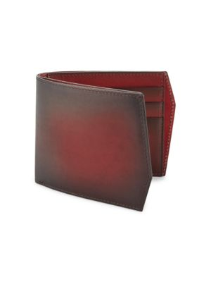 CORTHAY Faded Leather Bi-Fold Wallet