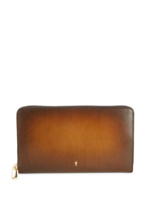 CORTHAY Rectangular Leather Zip-Around Wallet