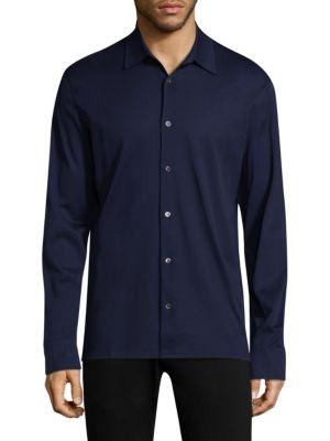 Luciano Barbera长袖棉制系扣衬衣