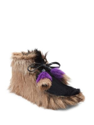 Genuine Shearling and Goat Hair Bootie