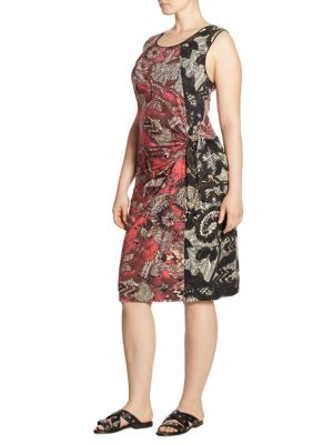 Plus Size Ruched Floral Dress