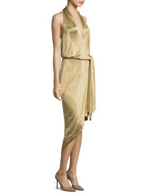Elizabeth Halter Mesh Dress