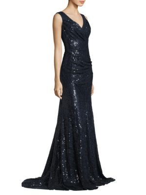 Sleeveless Glossy Gown