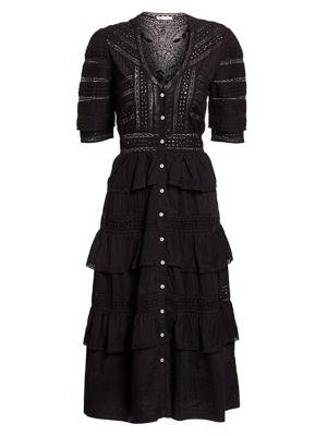 Rebecca Eyelet Ruffle Dress