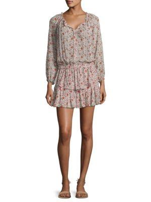 Popover Floral Silk Dress