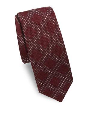 Dots & Squares Silk Tie