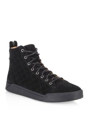 Tempus Diamond Suede Sneakers