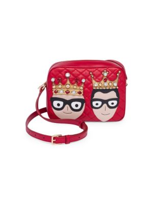 King & Queen Leather Mini Bag