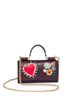 Studded Leather Phone Bag