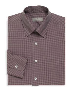 Checkered Long Sleeve Cotton Shirt