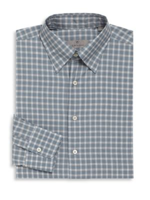 Slate Check Cotton Long Sleeve Shirt