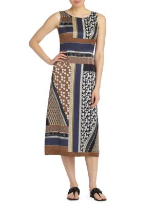 Sebella Paneled Silk Dress