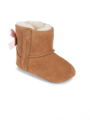 Baby's Jesse Bow Shearling-Lined Suede Boots
