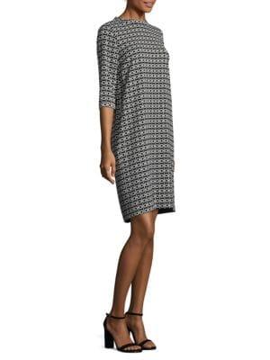 Jana Geometric-Print Dress