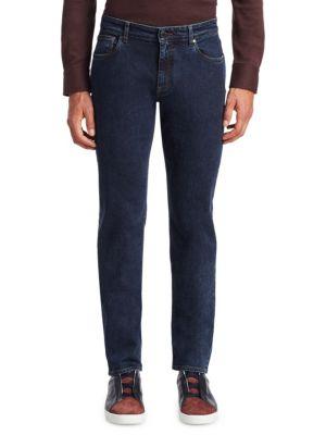 Dark Washed Slim-Straight Jeans