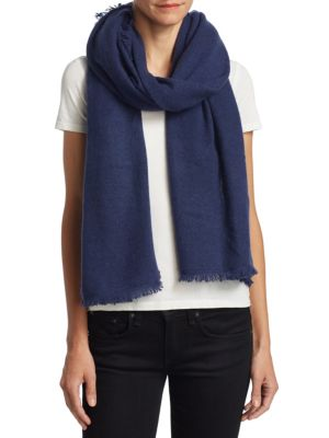 Fringed Cashmere Scarf by Saks Fifth Avenue