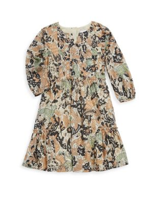 Little Girl's and Girl's Printed Cotton Dress