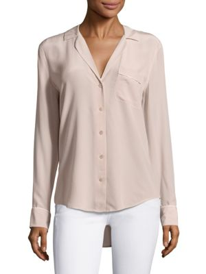 Keira Silk Piped Blouse by Equipment