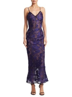 Giupure Lace Tea-Length Dress