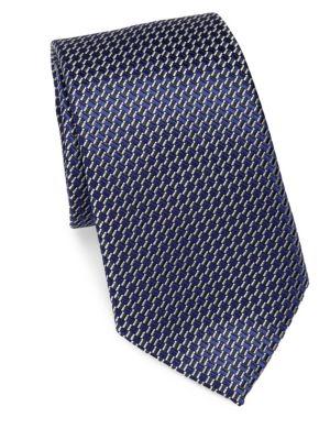 Little Square Silk Narrow Tie