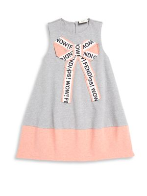 Little Girl's and Girl's Bow Dress
